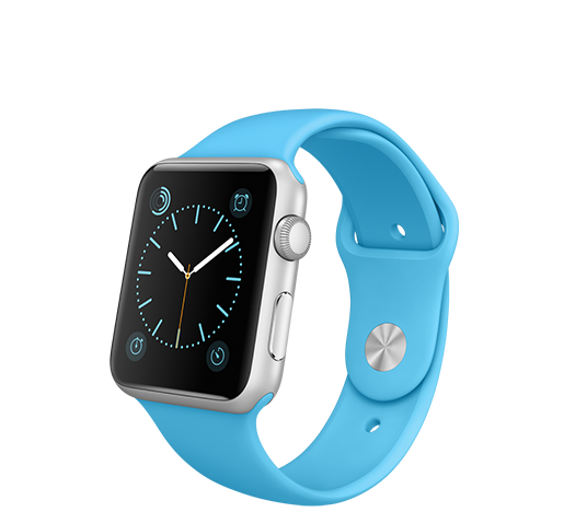 series 1 - 42mm silver aluminium with blue sport band image