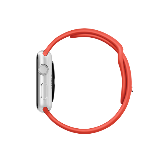 series 1 - 42mm silver aluminium with orange sport band image 3