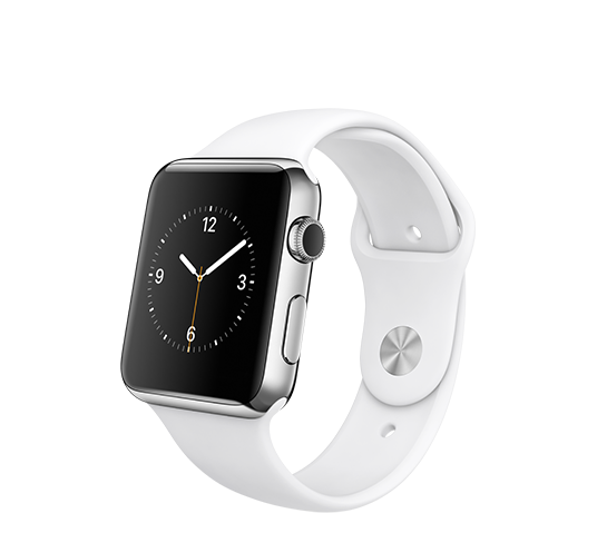 apple watch s3 gps 42mm silver aluminium case - white sport band image