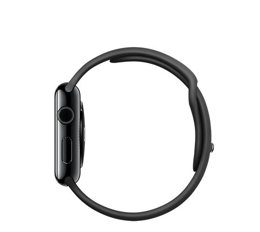 series 1 - 42mm space gray aluminum with black sport band image 3