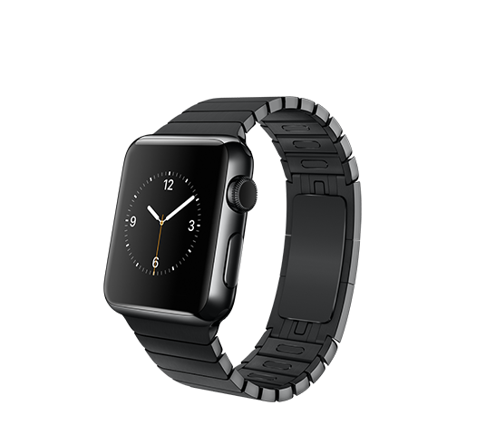 38mm space black stainless steel with space black link bracelet image