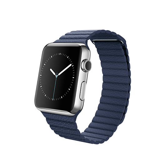 series 1 - 42mm stainless steel with midnight blue leather loop image