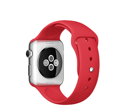 series 1 - 42mm stainless steel with red sport band image 2