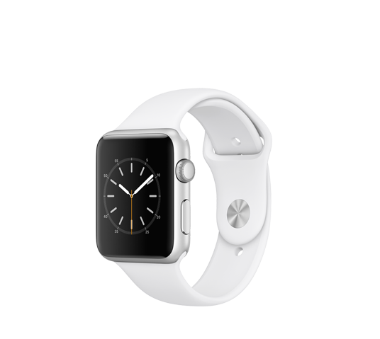 series 1 - 38mm silver aluminium case with white sport band image 1
