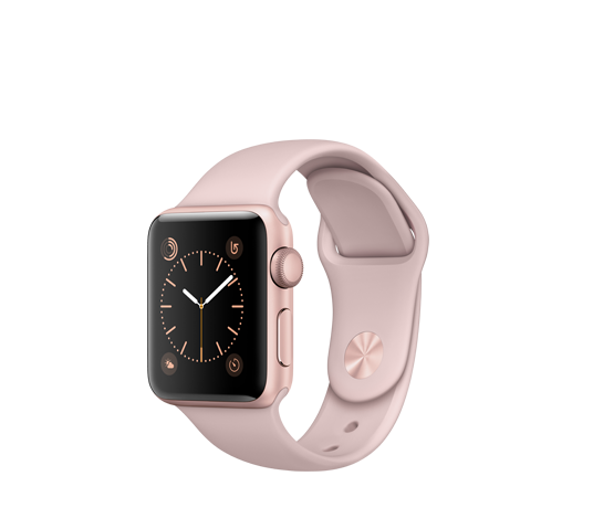 series 2 - 38mm rose gold alu case with pink sand sport band image