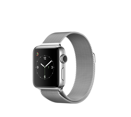 series 2 - 38mm stainless steel case with silver milanese loop image