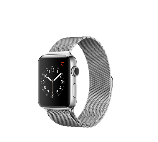 series 2 - 42mm stainless steel case with silver milanese loop image